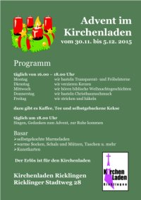 Advent im Kirchenladen